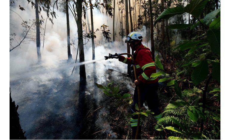 Incendio forestal quema casas en isla portuguesa de Madeira