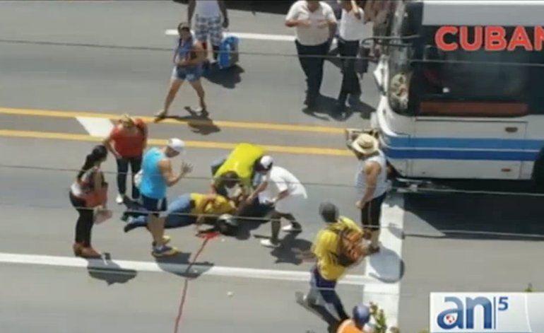Cuba al Día: fuertes imágenes  de accidente de tránsito donde falleció un motociclista