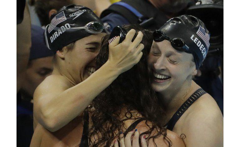 Ledecky gana su 3er oro en Río, en relevo de 4x200 libre