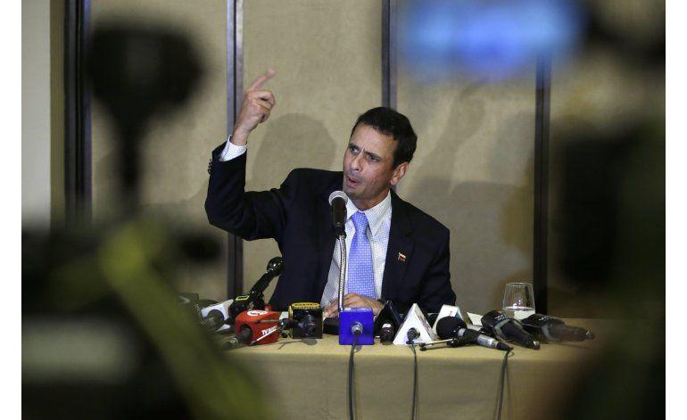 Capriles: Estallido en Venezuela crearía crisis desplazados