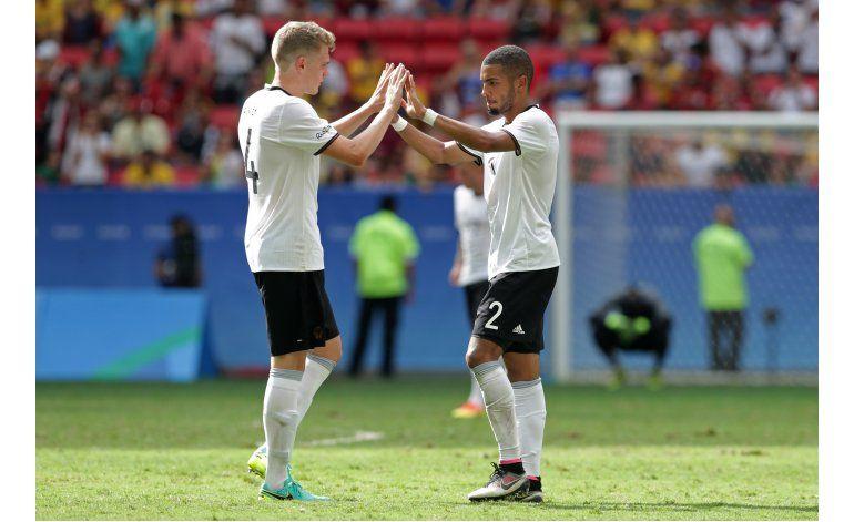 Alemania avanza a semifinales del fútbol olímpico