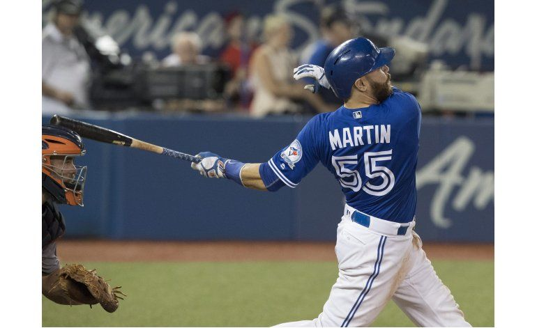 Russell Martin impulsa a Azulejos a triunfo 4-2 sobre Astros
