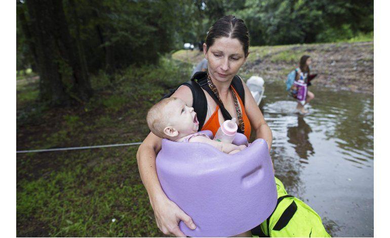 Inundaciones dejan miles de damnificados en Louisiana