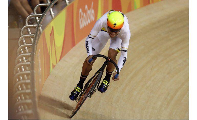 Colombiano Gaviria se queda sin medalla en la omnium