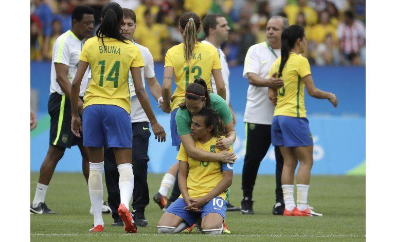 Brasil y Marta caen ante Suecia en semis de fútbol femenino