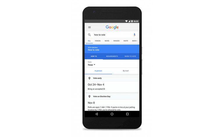 Google busca impulsar la participación electoral en EEUU