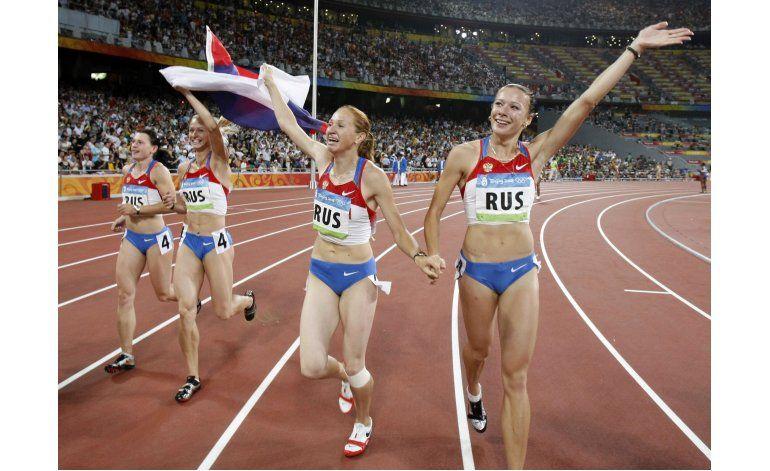 Rusia pierde oro de relevos 4x100 de Beijing 2008 por dopaje