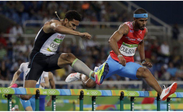 Puertorriqueño Culson clasifica a la final en 400 vallas