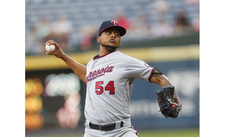 Santana domina en 7 innings, Mellizos ganan en Atlanta