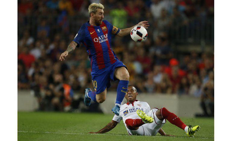 Barcelona vence 3-0 al Sevilla y gana la Supercopa