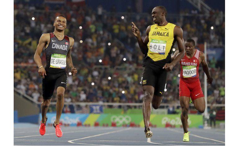 Bolt se ríe y hace reír; EEUU barre los 100 con vallas