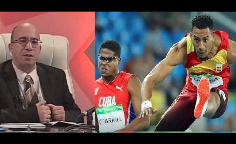 La Mesa Redonda llama excubano a atleta Orlando Ortega