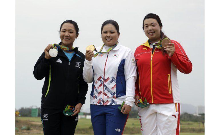 Park muestra su mejor nivel al ganar oro en golf de mujeres