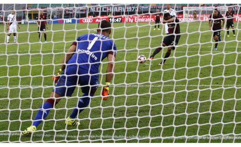 Bacca anota triplete en victoria del Milan