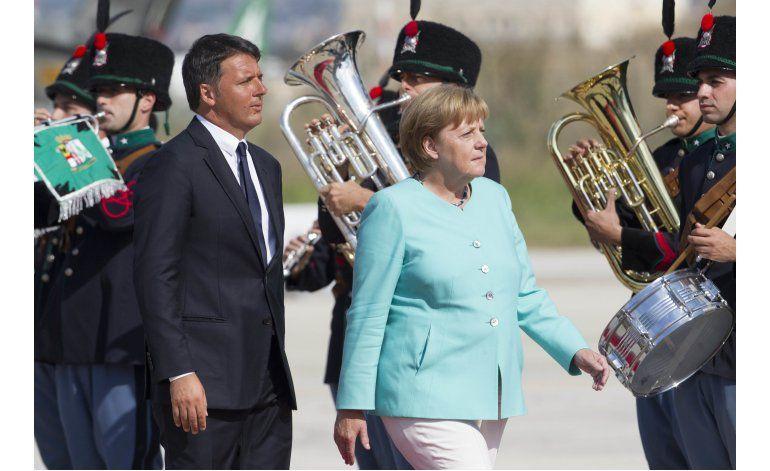 Italia, Francia y Alemania prometen defender la UE