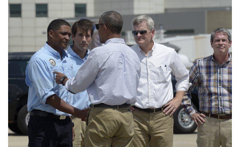 Obama visita zonas de Luisiana afectadas por inundaciones