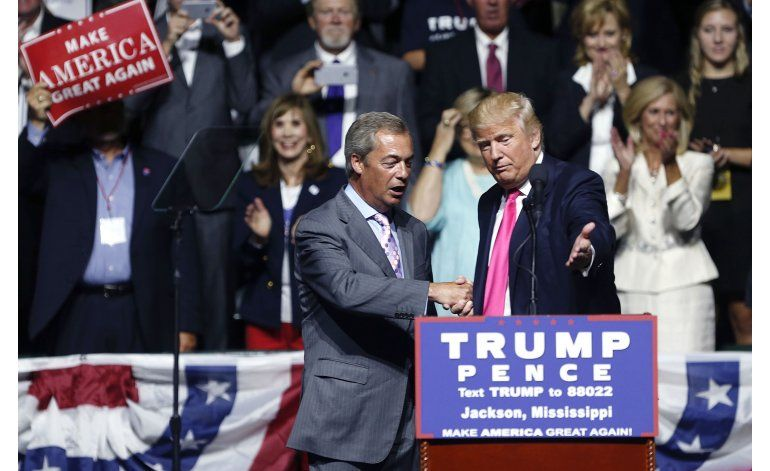 Promotor del Brexit se une a Trump en mitin