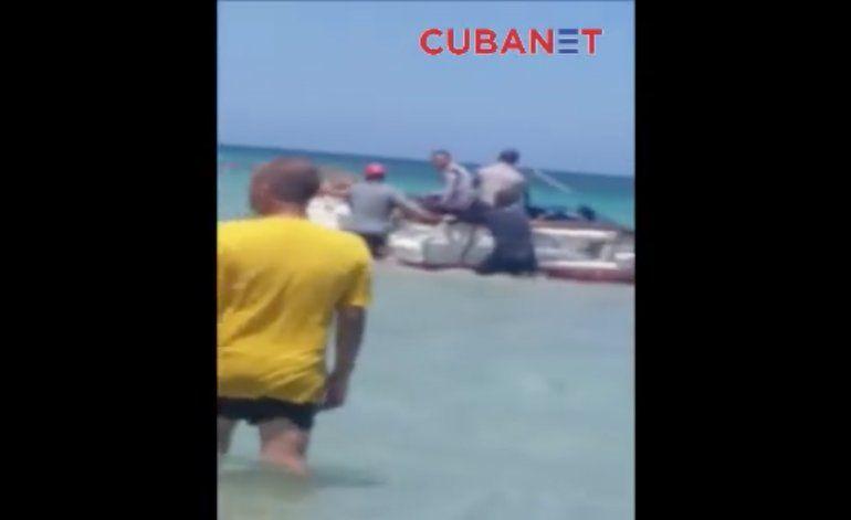 [Video] Confiscan embarcación a balseros en Guanabo