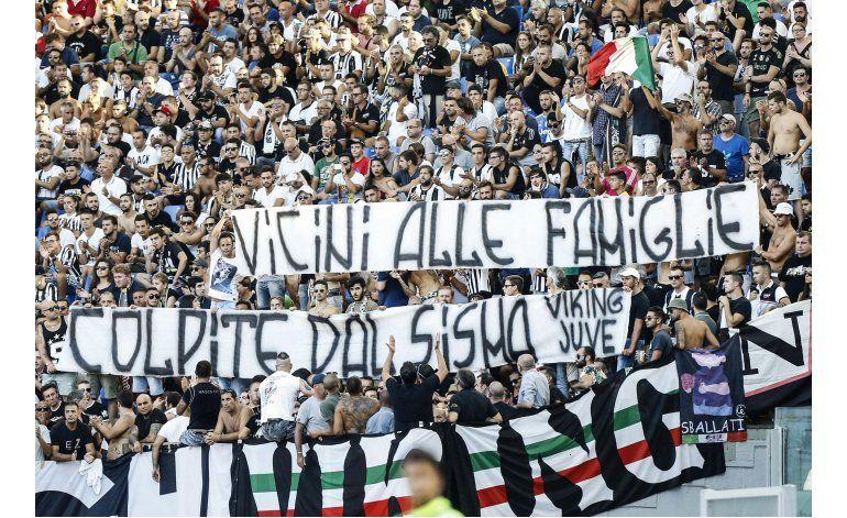 Juventus gana a Lazio en juego dedicado a víctimas del sismo