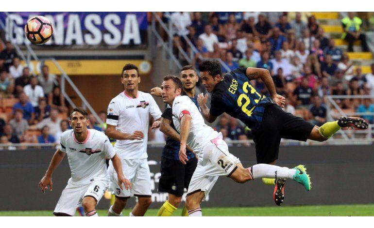 Inter mejora, con empate 1-1 ante Palermo
