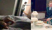 Me emborracharon: la foto de una maestra en la cama de un hotel luego de dormir con un alumno