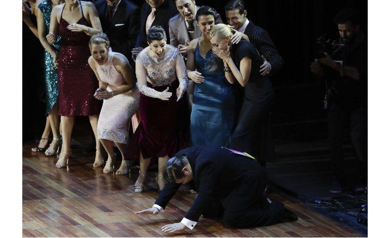 Podio argentino en el Mundial de tango