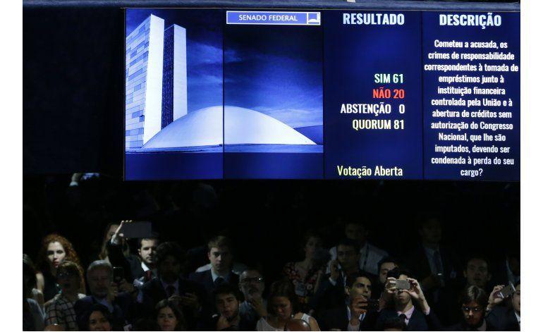América Latina con dispar reacción a destitución de Rousseff
