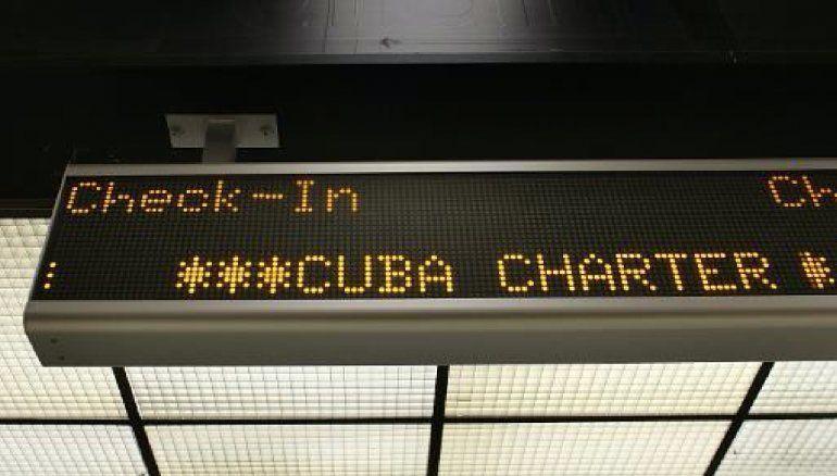 Entran en vigor restricciones de vuelos chárter a Cuba