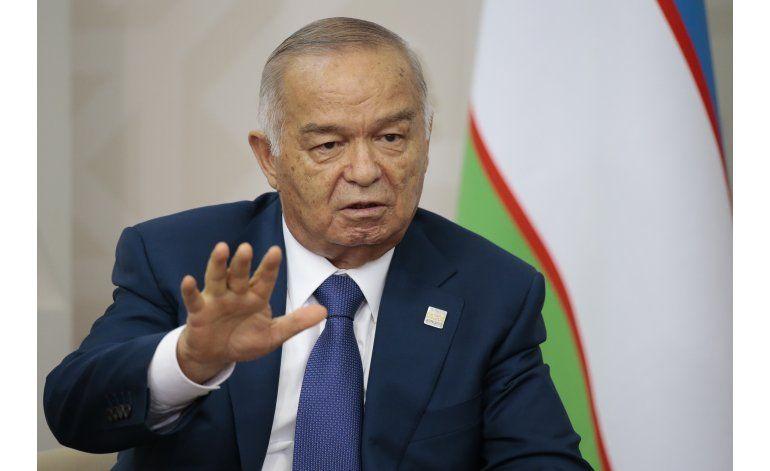 Muere Islam Karimov, presidente de Uzbekistán
