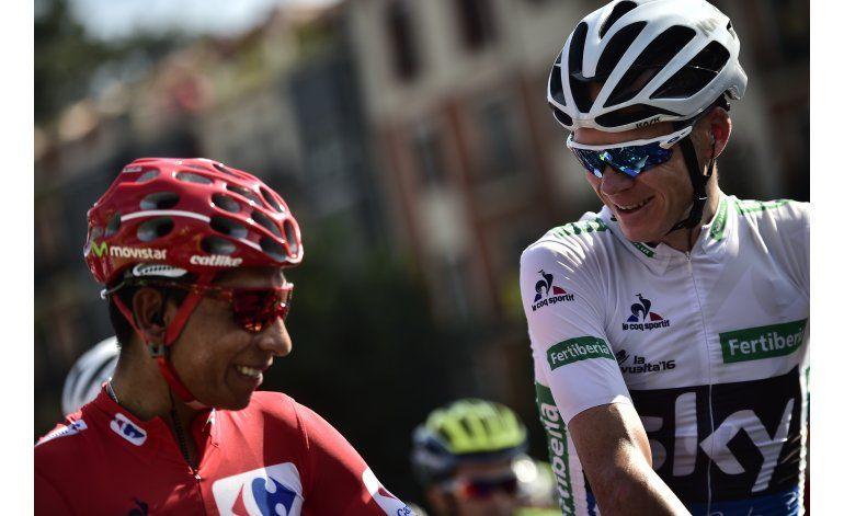 Colombiano Quintana sigue de líder en Vuelta tras 16 etapas