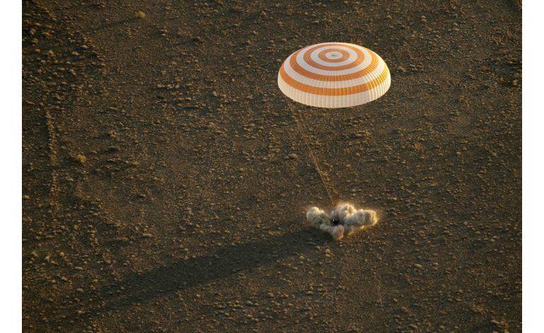 Vuelven a la Tierra 3 tripulantes de la estación espacial