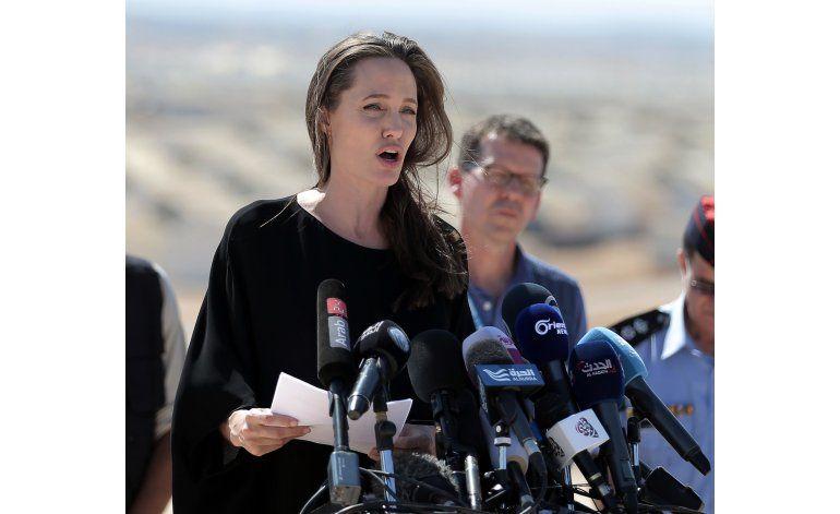 Jolie pide mayor apoyo para refugiados sirios