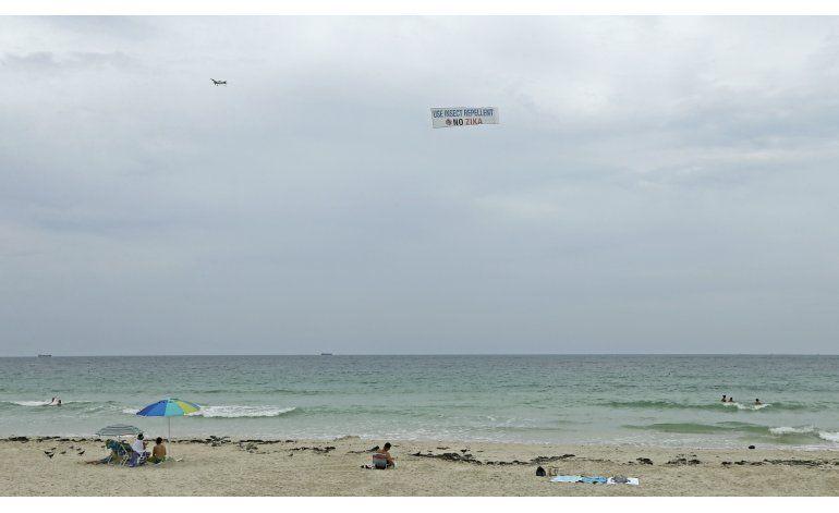 Realizan fumigación aérea en Miami Beach por el zika