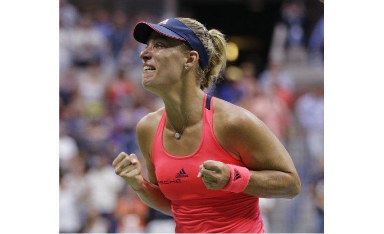 Kerber confirma que está en la elite; gana el US Open