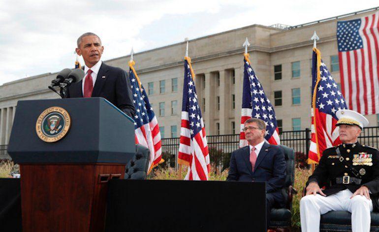 Obama destaca el espíritu estadounidense a 15 años del 11Sep