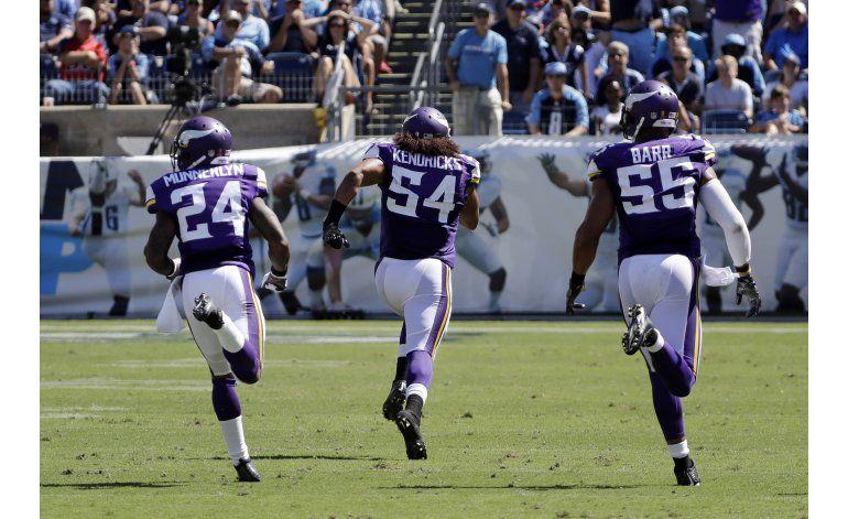 Defensiva de Vikings da la cara ante Titans
