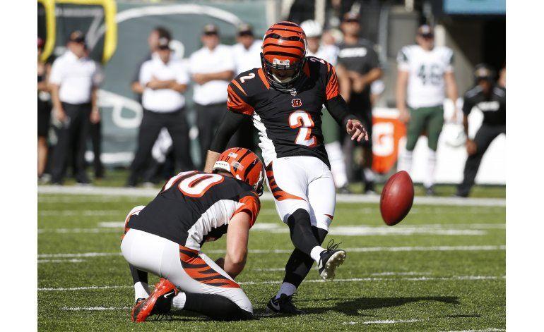 Gol de campo de Nugent decide victoria de Bengals ante Jetss