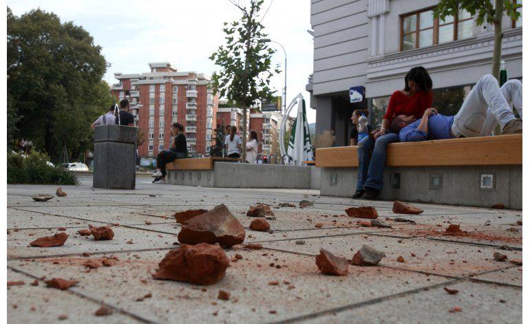Sismo de magnitud 5,3 sacude Macedonia