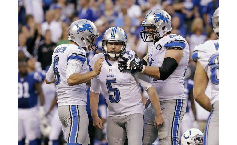 Prater se redime y Lions superan a Colts