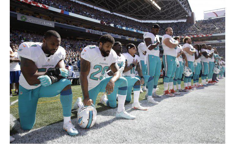 Upton: Protesta de Dolphins durante himno es una deshonra