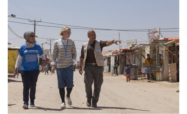Blanchett participa en video por refugiados