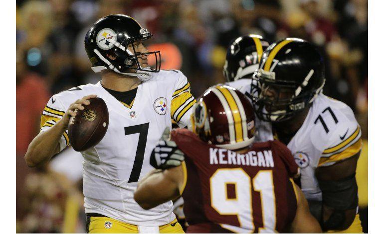 Big Ben lanza 3 pases de touchdown en triunfo de Steelers