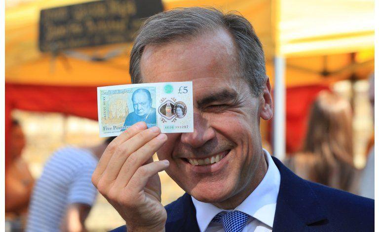 GB presenta billete de 5 libras de polímero resistente