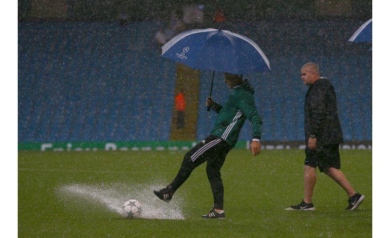 Posponen partido City-Moenchengladbach por fuertes lluvias