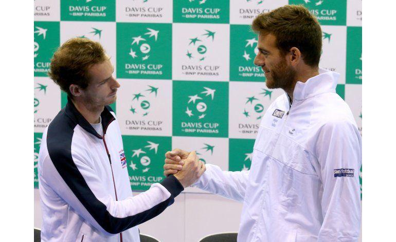 Murray-Del Potro abre semifinal Gran Bretaña vs. Argentina