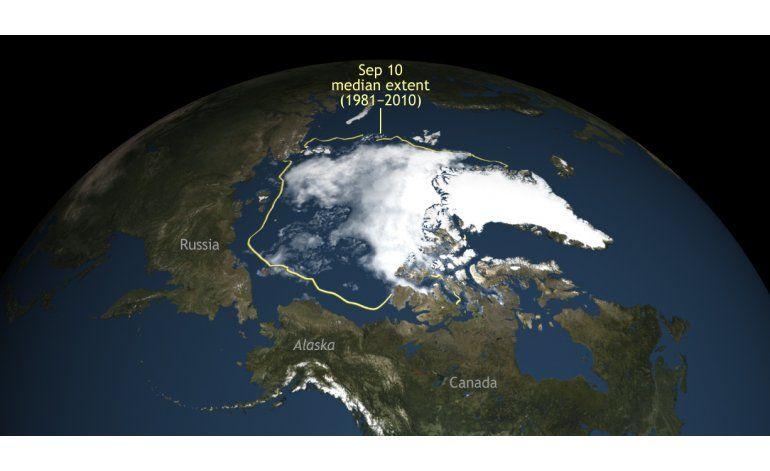 Hielo en el Ártico disminuye a su 2do menor nivel