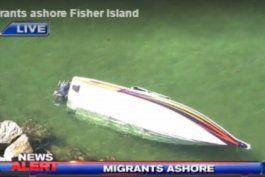 cubanos desembarcan en fisher island, miami
