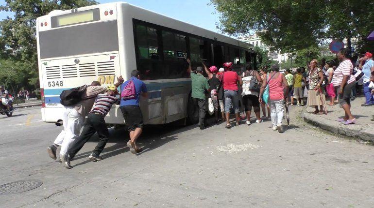 Así está el transporte público en La Habana