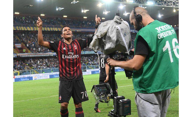 Con gol de Bacca, Milan supera a Sampdoria