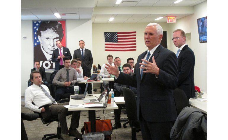 Médico considera sano a Pence, compañero de fórmula de Trump